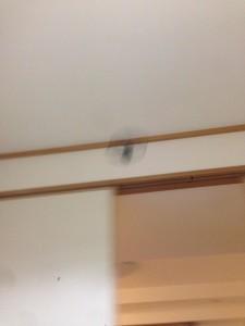 フライングアラームクロックのプロペラが飛んでいるところ